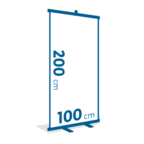 Espositore ROLL UP 100x200 cm
